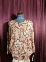 NEW Alfred Dunner Pink Floral Button Up Cardigan Sweater Womens L NWT Closet71*