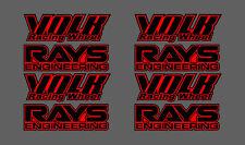 Volk racing Rays Wheel decals Stickers x8 Red, RWB, hellaflush, speed star, work