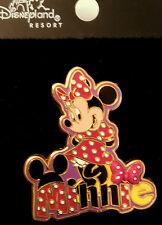 Disney Pin 12390: DLR Character Name Pin Minnie Free D - HTF New - 2002