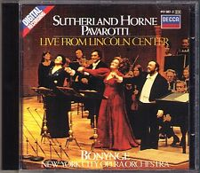 Luciano PAVAROTTI Joan SUTHERLAND Marilyn HORNE Live from Lincoln Center BONYNGE