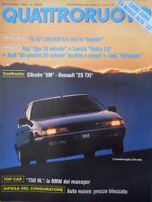 Quattroruote 409 1989  - Fiat Tipo 16 Valvole - Audi 90 4 valvole  [Q43]