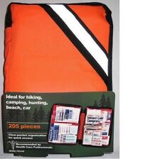 205 Piece Outdoor First Aid Kit Hiking Camping Marine Home Auto Boating FAO440F
