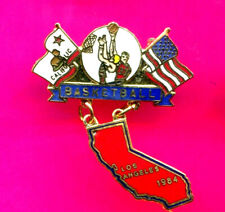 1984 OLYMPIC PIN BASKETBALL DANGLER PIN LIMITED EDTION PIN