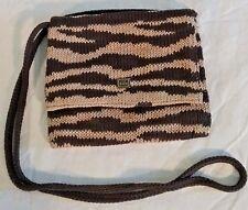 The Sak Knit Brown Zebra Print Crossbody Mini Bag