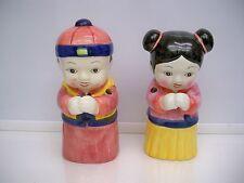 2 ORIENTAL TIKI MUGS DW147-B BOY AND GIRL HANDPAINTED
