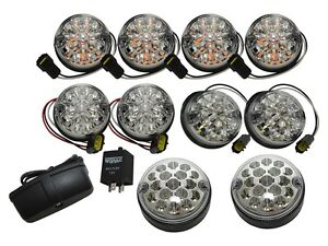 LAND ROVER DEFENDER 2007 - ONWARDS DELUXE LED CLEAR LIGHT KIT 73MM PART DA1291