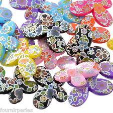20 Perles Acrylique Papillon Fleur Couleur AB 29mm x 22mm B24537