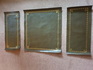 Green leather top sections for an old Charm pedestal desk.