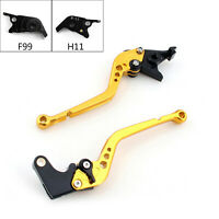 Long Brake Clutch Levers For Ducati 1299/1199/959/899 Panigale Xdiavel 749 Gold.