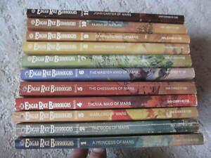 THE MARS SERIES Books 1-11  Edgar Rice Burroughs Ballantine Paperback