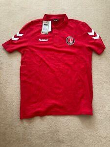 Charlton Athletic Cotton Polo T-Shirt -BNWT-RRP £29.99