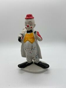 "Vintage Porcelain Clown Figurine Price Products 7"" Umbrella"