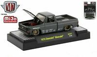 M2 MACHINES 1975 75 CHEVROLET SILVERADO SQUAREBODY TRUCK HOLLEY Grey, MIP 1/3850