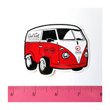 Skateboard Car Bumper Guitar Laptop Vinyl Decal Sticker - Red Van