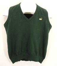 Masters Collection Green Golf Vest Womens Small Augusta Amen Corner Cotton