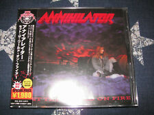 ANNIHILATOR - Set the World on Fire + 1 ('93) DREAM THEATER RARE JAPAN CD *MINT*