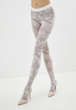 WOLFORD Antoinette tights antique rococo toile graphic print pattern back seam M