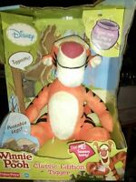 "Winnie The Pooh Classic Edition Tigger Posable 10"" Plush With Sound"