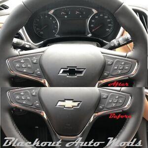 Matte Black Vinyl BowTie Steering Wheel Emblem Overlay Decal Chevrolet Malibu