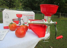 Tre Spade Manual Tomato Press Squeezer Strainer, BT Model Made In Italy, NEW!