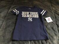 A73 New York Yankees Majestic MLB girls youth tshirt free shipping XL