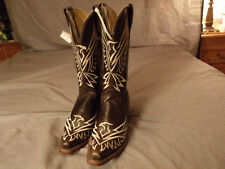Corral Womens R2543 Sz 7.0M Chocolate Beige Embroidery ThunderBird Western Boots