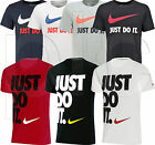 Nike JUST DO IT Mens Short Sleeve Crew Neck Cotton Logo T-Shirt Top NEW S-XL