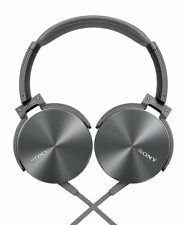 BRAND NEW Sony MDR-XB950AP/H Extra Bass Headphones w/ Inline Microphone Silver