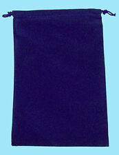 Chessex LARGE BLUE DICE BAG SUEDE 5x7 Drawstring Storage Pouch Velour Cloth RPG