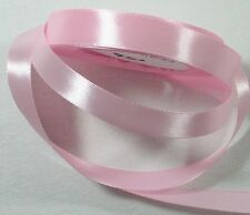"5 metres x Single Sided Satin Ribbon 15mm 5/8"" Baby Pink 154 NEW **LAST ONE**"