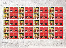 CS-006+007 Christmas 2001 (Consignia) BOTH Commemorative Stamp Sheets - Cat £500