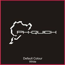 Nurburgring PH rápido Calcomanía de circuito de carreras, pista, Vinilo, etiqueta engomada, gráficos, N2020
