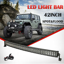 """42""""inch 800W Curved PHILIPS Spot Flood Combo LED Work Light Bar Driving Lamp 50"""""""