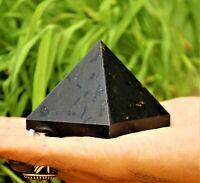 Black Tourmaline Stone Healing Charged Reiki Chakras Egyptian 50MM Pyramid
