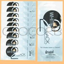 20 DEVOTED CREATIONS WHITE 2 BLACK BRONZER PACKET TANNING BED LOTION SAMPLE