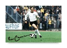 More details for franz beckenbauer signed 6x4 photo germany bayern munich genuine autograph + coa