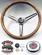 """1961-1963 Cutlass F85 steering wheel OLDS 15"""" MUSCLE CAR WALNUT steering wheel"""