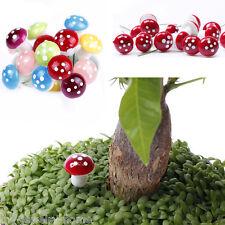 New 10Pcs Miniature Dollhouse Fairy Garden Accessories Terrarium Tiny Mushroom