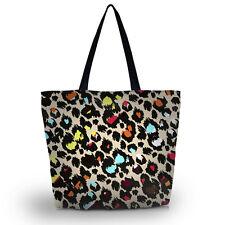 Leopard Print Foldable Tote Women's Shopping Bag Shoulder Bag Lady Handbag