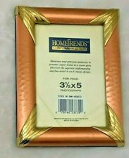 """Home Trends 4 3/4 X 6 1/4"""" Copper Frame Holds 3 1/2 X 5"""" Photo"""