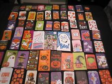 LARGE LOT 65 DIFFERENT VINTAGE HALLOWEEN TRICK OR TREAT CANDY BAGS SOME RARE