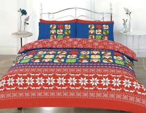 Merry Christmas Duvet Cover Sets King size Festive Bedding Set Quilt Cover Set