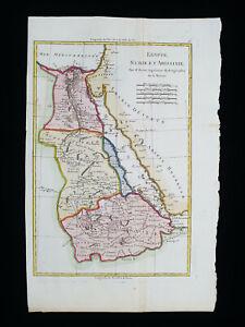 1787 BONNE: AFRICA, AFRIQUE, NUBIA, SUDAN, RED SEA, EGYPT, ETHIOPIA, ABYSSINIA