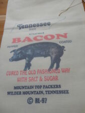 RL-97 TENNESSEE BACON Flour Bag Sack Feed Seed  Novelty Collectible.