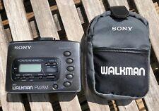 Sony Walkman WM-FX41 AM/FM Personal Cassette Tape Player 1992 With Case Vintage