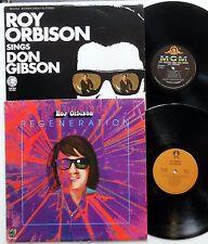 Roy Orbison Lot Of 2 Lps ; Sings Don Gibson & Regeneration Pop Rock