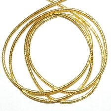 "WC318f French Wire Gold-Finish Twist Tube 1mm Bullion Jewelry Component 13""/pkg"
