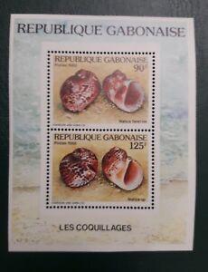 GABON 1988 - SOUVENIR SHEET BLOC BLOCK YT 56A - COQUILLAGES SHELL SHELLS - MNH