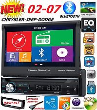 "02 03 04 05 06 07 CHRYSLER JEEP DODGE 7"" NAVIGATION CD DVD BLUETOOTH CAR STEREO"