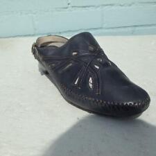 K CLARKS Leather Sandals Size UK 7 Eur 40 Womens Slip on Black Slingback Sandals